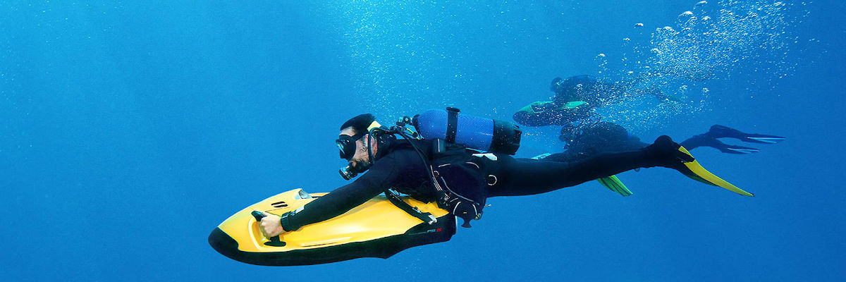 SEABOB Malta diving under water